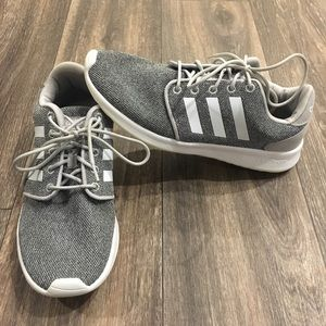 Adidas Gray and White Athletic Shoes
